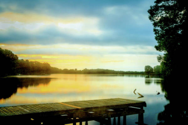 Photograph - Morning Twilight Lakeside by Barry Jones