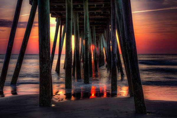 Morning Under The Pier Art Print