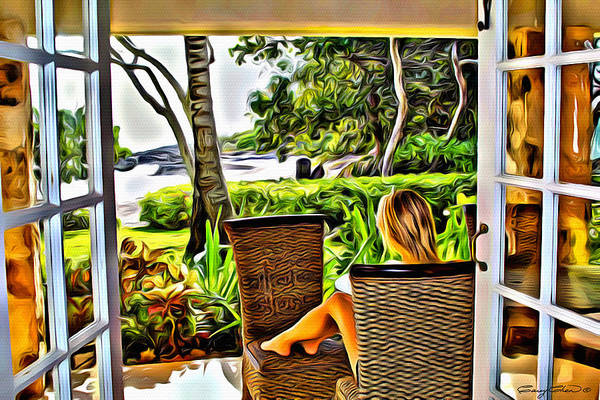 Carribean Islands Digital Art - Morning View by Anthony C Chen