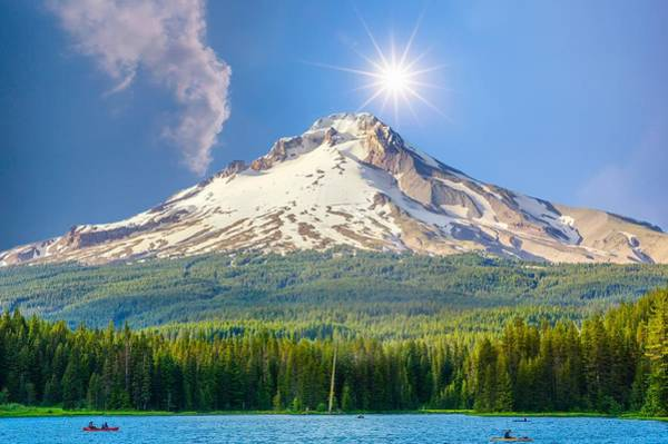 Mt Hood Photograph - Morning View Of The Mt Hood by Art Spectrum
