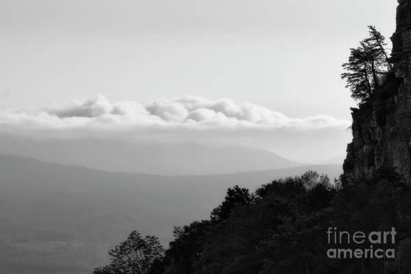Photograph - Morning View Pilot Mountain  Bw by Patrick M Lynch