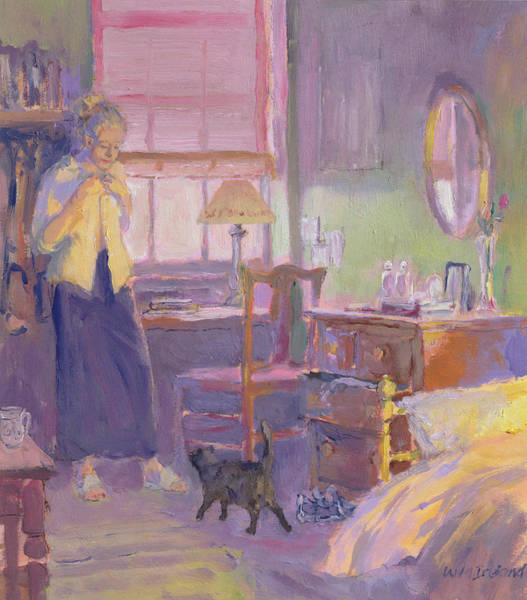 Drawers Painting - Morning Visitor by William Ireland