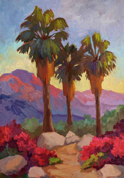 Canaries Painting - Morning Walk by Diane McClary