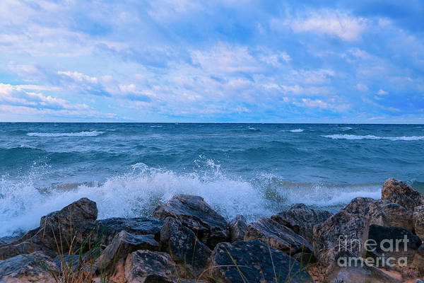 Photograph - Morning Waves A Crashing by Rachel Cohen