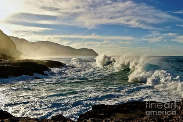 Kaena Photograph - Morning Waves At Kaena by Craig Wood