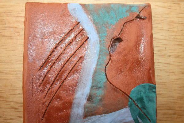 Ceramic Art - Mornings - Tile by Gloria Ssali