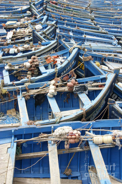 Photograph - Moroccan Blue Boats by David Birchall