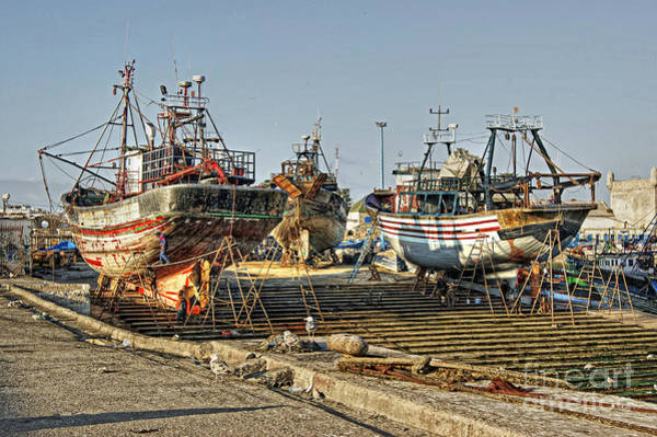 Photograph - Moroccan Boatyard by David Birchall