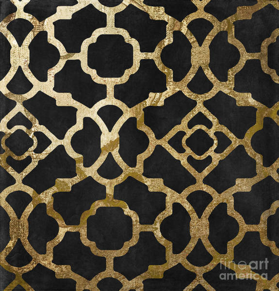 Gold Painting - Moroccan Gold IIi by Mindy Sommers