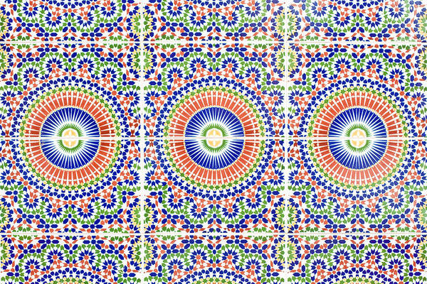 Glazed Tiles Photograph - Moroccan Tiles by Tom Gowanlock