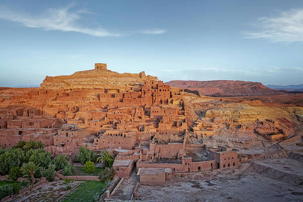 Ait Benhaddou Photograph - Morocco. Draa-tafilalet. Ancient Fortress Ait Benhaddou Between Desert And Mountains, Unesco World H by Tjeerd Kruse