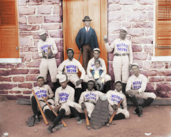 College Baseball Photograph - Morris Brown Ball Players by Eugene Campbell