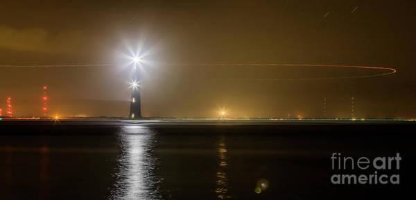 Wall Art - Photograph - Morris Island Light House 140 Year Anniversary Lighting by Dustin K Ryan