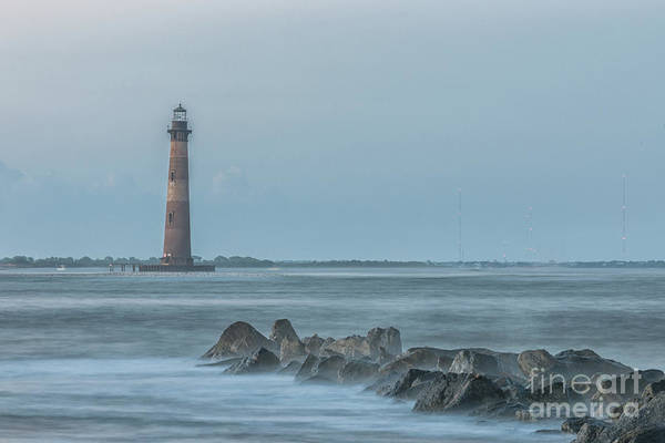 Photograph - Morris Island Lighthouse Folly Beach by Dale Powell