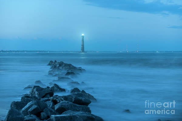 Photograph - 140 Year Anniversary Lighting Of The Morris Island Lighthouse by Dale Powell