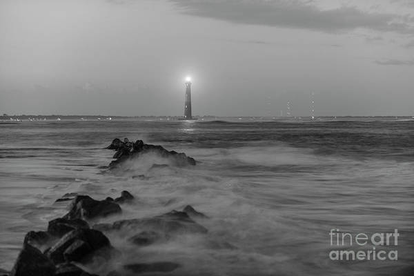 Photograph - Morris Island Lighthouse Lighting by Dale Powell