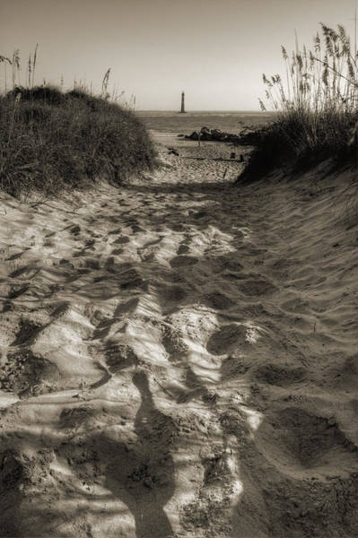 Photograph - Morris Island Lighthouse Pathway by Dustin K Ryan