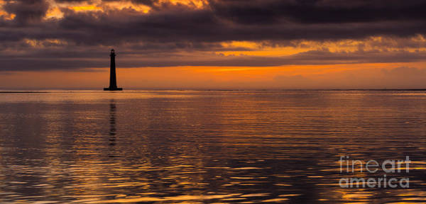 Photograph - Morris Island Lighthouse Reflection At Dawn Charleston Coast by Donnie Whitaker