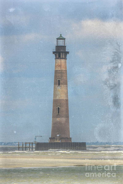 Photograph - Morris Island Lighthouse Salt Water Marine Warning by Dale Powell