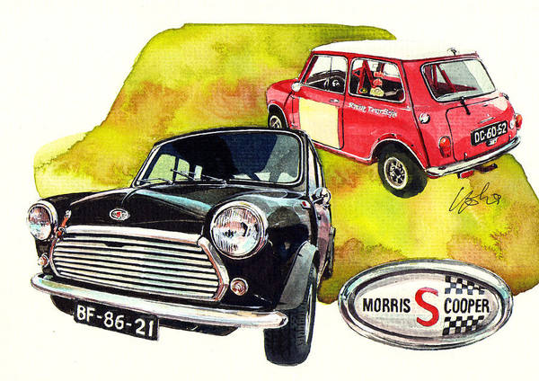 Mini Cooper Wall Art - Painting - Morris Mini Cooper S by Yoshiharu Miyakawa