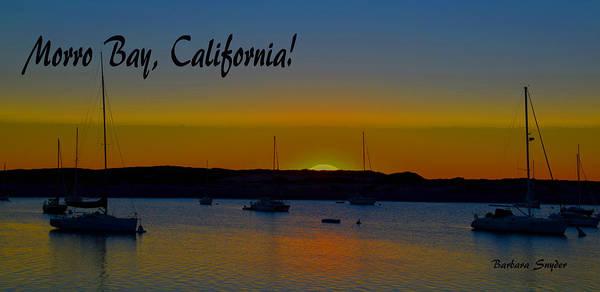 Morro Bay Painting - Morro Bay California Abstract Sunset by Barbara Snyder