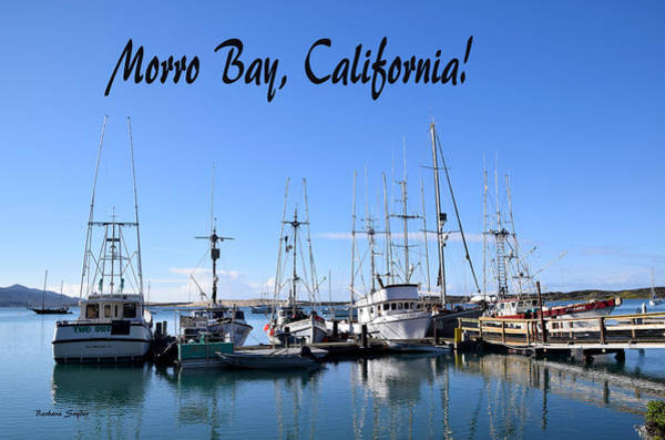 Morro Bay Painting - Morro Bay California Boat Docks by Barbara Snyder