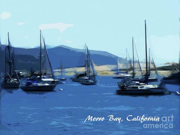 Morro Bay Digital Art - Morro Bay California by Methune Hively