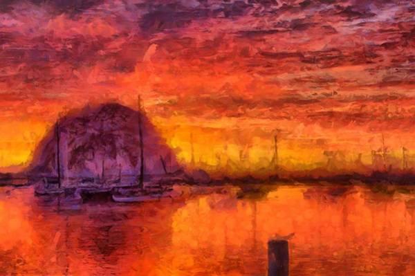 Morro Bay Marina Art Print