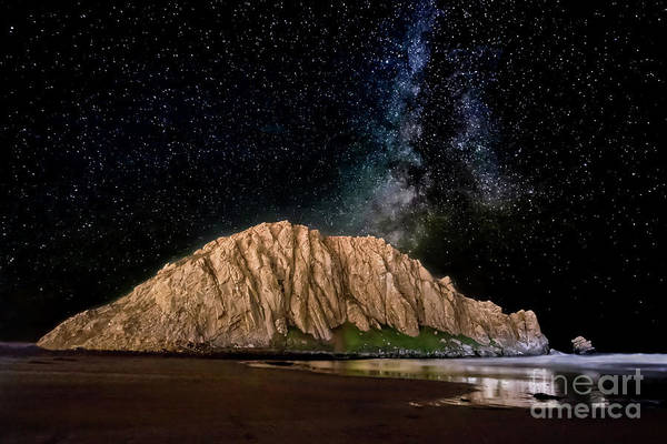 Photograph - Morro Rock After Dark by Beth Sargent