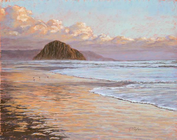 Morro Bay Painting - Morro Rock by Jim Tyler