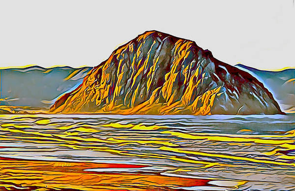 Photograph - Morro Rock Morro Bay Abstract by Floyd Snyder
