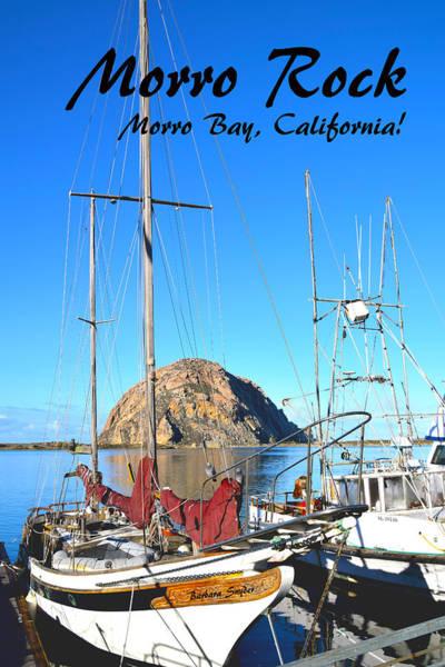 Morro Bay Painting - Morro Rock Morro Bay California by Barbara Snyder