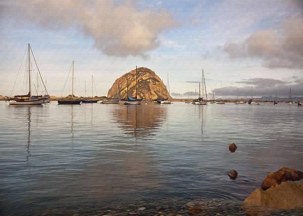 Morro Bay Digital Art - Morro Rocks by Sharon Foster