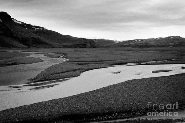 Wall Art - Photograph - morsa river and skiedara glacial river Iceland by Joe Fox