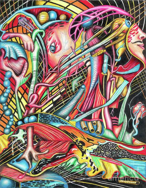 Drawing - Mortal Fiber by Justin Jenkins