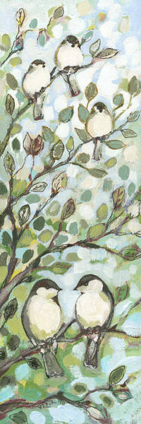 Songbird Wall Art - Painting - Mo's Chickadees by Jennifer Lommers