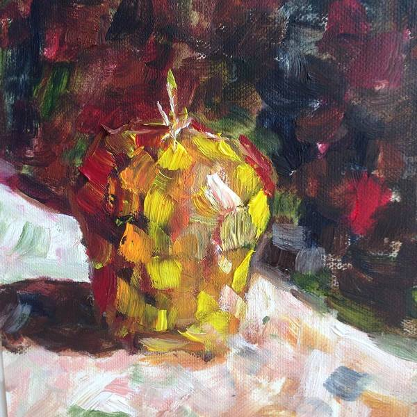 Still Life Painting - Mosaic Apple by Roxy Rich