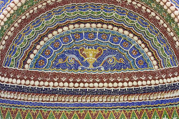 Wall Art - Photograph - Mosaic Fountain Detail 4 by Teresa Mucha