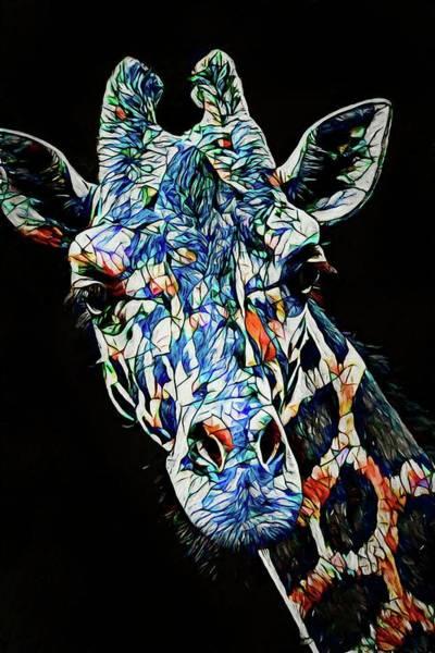 Photograph - Mosaic Giraffe by Alice Gipson