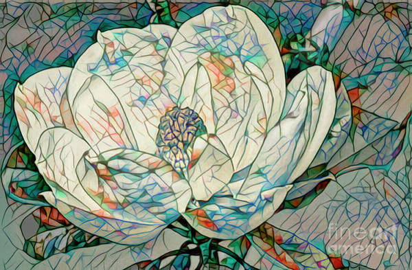 Wall Art - Mixed Media - Mosaic Magnolia by Deborah Benoit