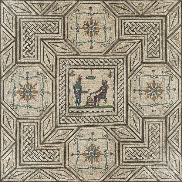 Wall Art - Ceramic Art - Mosaic Pavement With Egyptianizing Scene by Roman School