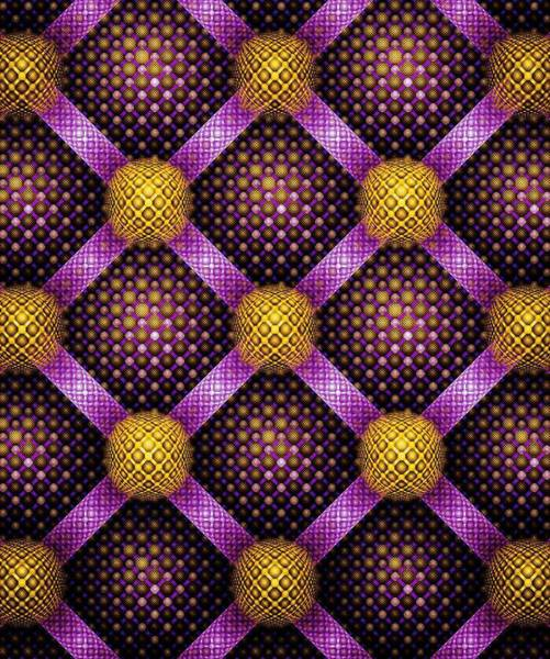 Mixed Media - Mosaic - Purple And Yellow by Anastasiya Malakhova