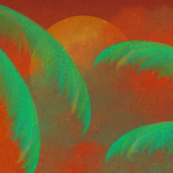 Digital Art - Mosaic Sunrise by Wally Boggus