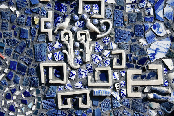 Photograph - Mosaic Tiles In Blue And White by Jill Lang