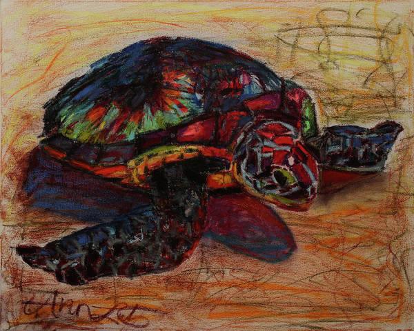 Wall Art - Pastel - Mosaic Turtle  by Ann Lutz