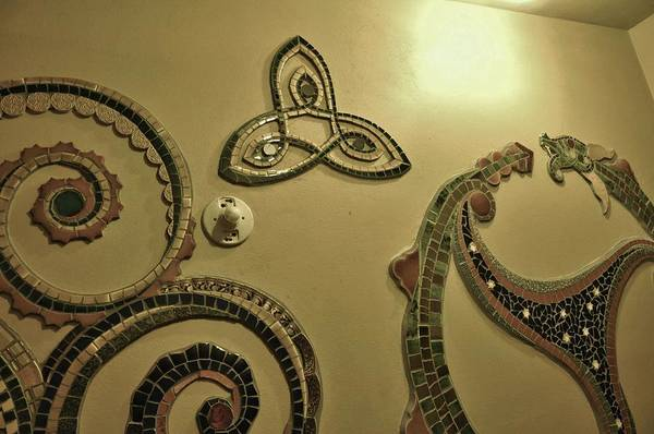 Photograph - mosaics Celtic by Charles Lucas