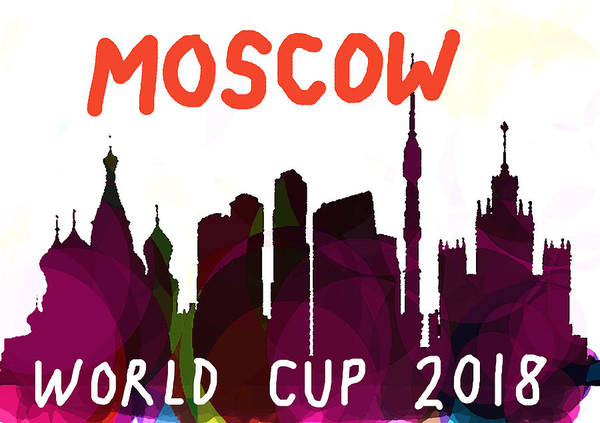 Moscow Mixed Media - Moscow World Cup Sky  by Enki Art