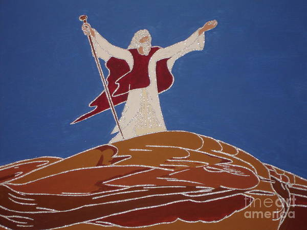 Scriptural Painting - Moses Act Of Obedience by Daniel Henning