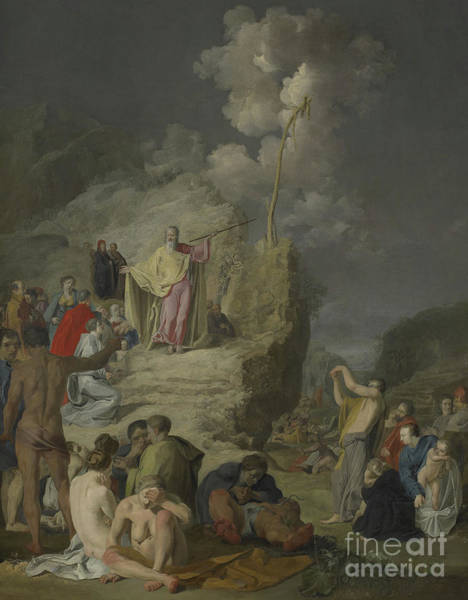 Wall Art - Painting - Moses And The Brazen Serpent by Pieter Fransz de Grebber