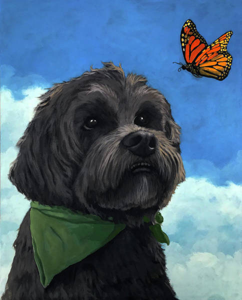 Wall Art - Painting - Moses - Pet Portrait by Linda Apple